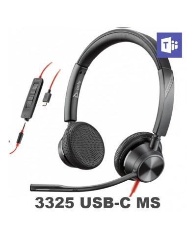 Poly - Plantronics Blackwire 3325 USB-C MS